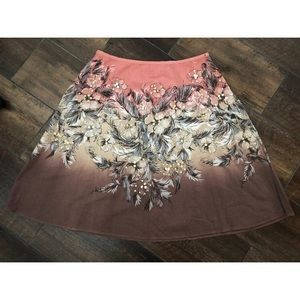 silhouettes Skirts - Ombré Pink Beige Brown Gold Sequin Aline Skirt